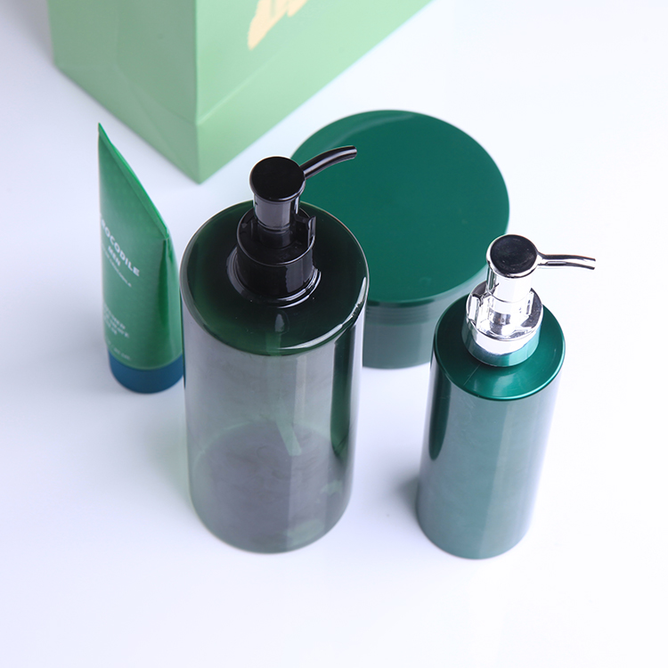 Mint green cometic packaging pump dispenser 500ml 200ml oil spray bottle